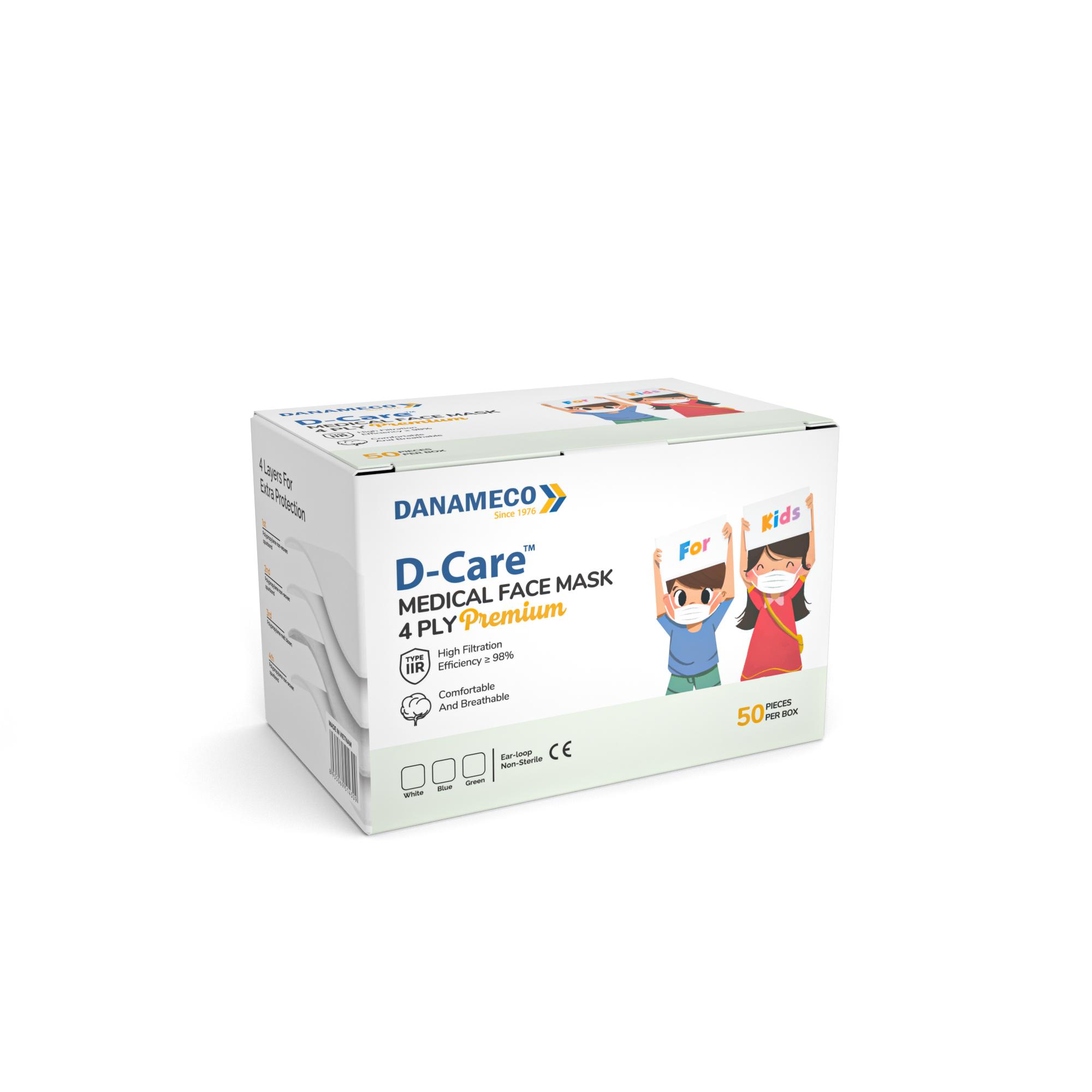 Khẩu trang y tế trẻ em 4 lớp D-Care Premium